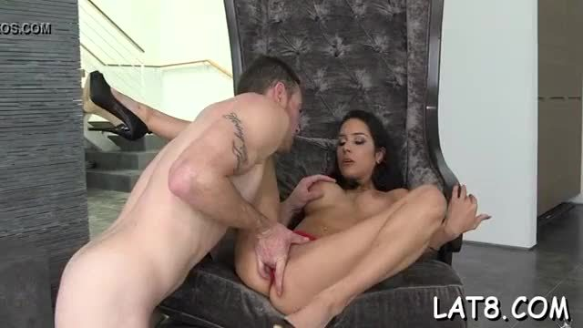 Darling is devouring studs tough knob hungrily