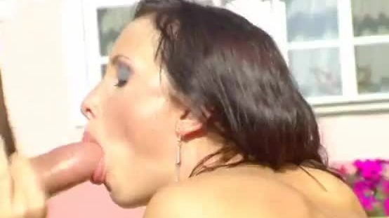 Girl gets fucked and drenched in cum on camera