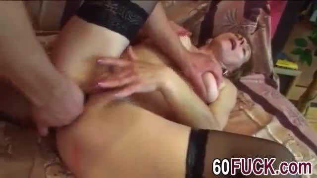 Cute redhead enjoys getting fucked on the couch
