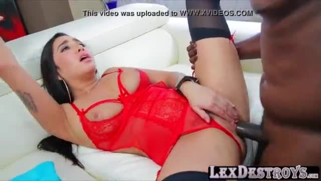 Super sweet white babe fucked by big black dick