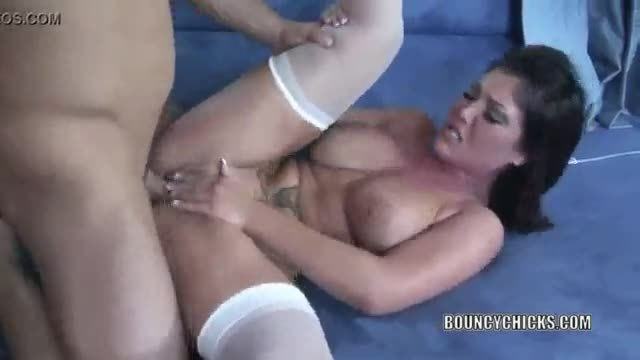 Grace in video with a hot chick fucking in stockings