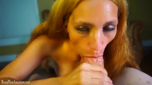 Big fake tits mature redhead teasing handicap lover by fingering her hairy pussy