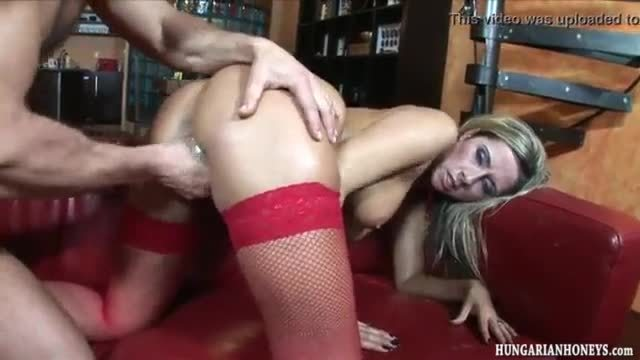 Babe in stockings banged and riding cock