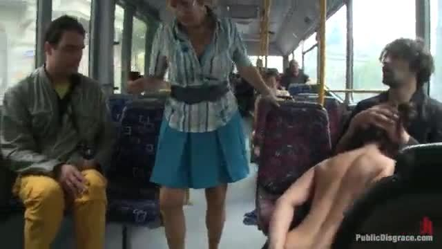 Hardcored on a city bus