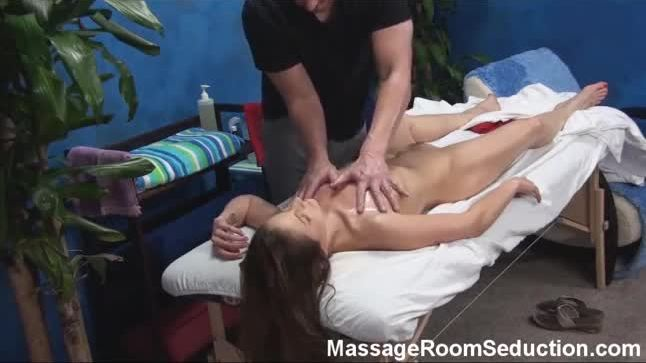 Ally seduced and fucked by her massage therapist on hidden camera