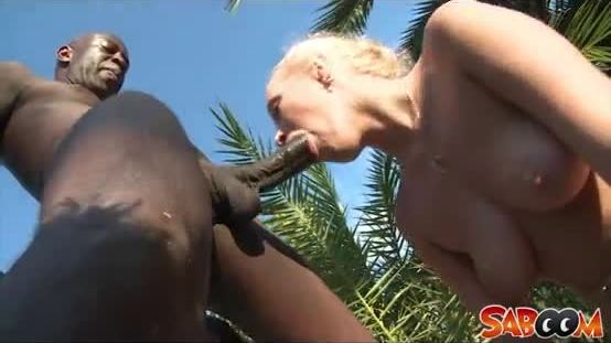 Blonde slut in action