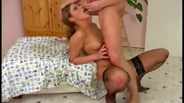 Hot blonde russian milf fucked raw